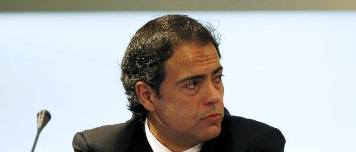 Javier Miñano en una conferencia