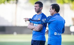 Albert Celades y Javier Miñano en Paterna